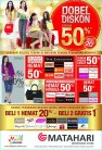 Promo Matahari Department Store koleksi untuk wanita Dobel Diskon hingga 50%.