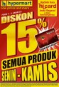 HYPERMART Promo DISKON 15% dengan Kartu HiCard