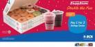 KRISPY KREME Special Monday! Pay 1 For 2 dengan Kartu Kredit BCA berlogo BCA Card