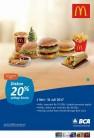 Promo MCDONALDS Diskon 20 % Setiap Senin dengan KARTU KREDIT BCA
