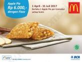 Promo McDONALDS HARGA SPESIAL untuk Apple Pie Rp. 6.000 dengan Flazz BCA