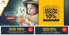 Blibli.com Super Weekend Extra Diskon 10%*